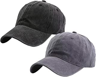 Kids Distresed-Washed Baseball Hat Infant Toddler Baby Boy Cotton Hats Distresed for 2-8 Years