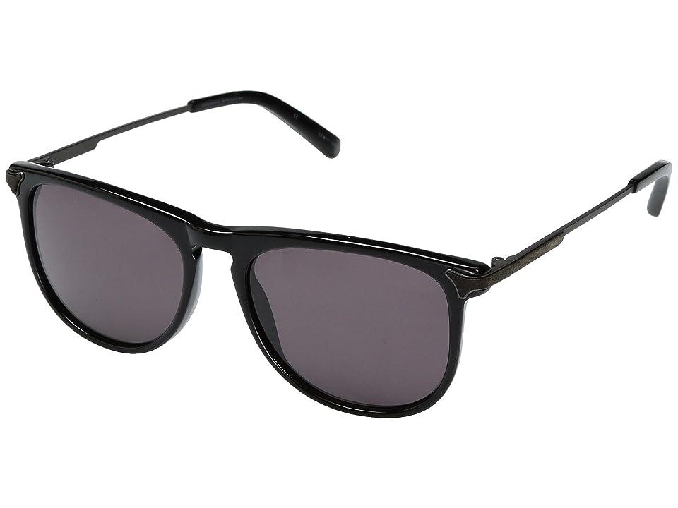 Shwood Keller Acetate Wood (Black/Grey) Sport Sunglasses