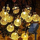 BeauFlw ソーラー イルミネーションライト LED ストリングライト 50電球 7M 8モード IP65防水 夜間自動点灯 飾りライト クリスマス ハロウィン パーティー バレンタインデー 新年 祝日 結婚式 学園祭 キャンプ 屋外 室内 庭 対応 ガーランドライト