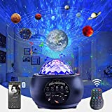 Lullabala Star Projector for Celling for Adults, Solar System Projector with Led Nebula Cloud/Moving Ocean Wave for Bedroom with Timer and Music Speaker for Room Decor/Gift, Home Planetarium