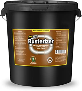 Rusterizer Heavy Duty Rust Remover 5 Gallon Pail - Neutralizes Rust Stains On Concrete Driveways & Sidewalks. Multi Purpose Rust Stain Remover Endorsed & Used By Contractors Due To Ease of Use