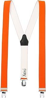 Xeira, Tirantes de 35 mm de ancho con 3 clips XL extra fuertes para hombres y mujeres