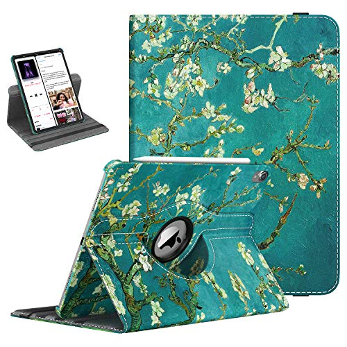 TiMOVO Folio Case for iPad Pro 11 Inch 2018 - [Support Apple Pencil Charging] 360 Degree Rotating Smart Leather Swivel Case with Auto Sleep/Wake for Apple iPad Pro 11' 2018 - ALmond Blossom