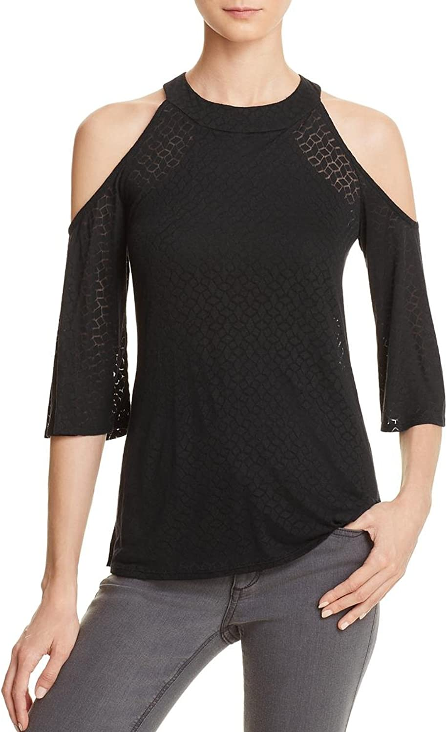 Bailey 44 Women's Best For Last Cold Shoulder Top Black Size Small