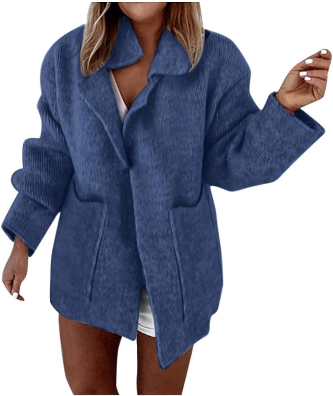 Kanzd sale Cardigan Sweaters for Jacksonville Mall Women Knit Long Boyfr Sleeve Fashion