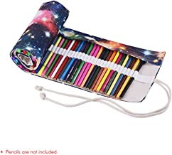Canvas Pencil Roll Pouch Case Bag Wrap Holder Storage 72 Holes for Artist