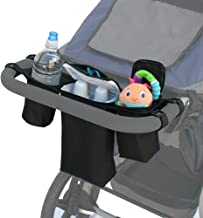 J.L. Childress Cups N Cool, Universal Fit Stroller Organizer with Insulated Cooler, Securely Attaches to Handlebars, Black