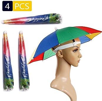 Head Umbrella Anti-UV Anti-Rain Outdoor Travel Fishing Umbrella Hat HY#U
