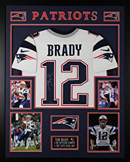 Tom Brady Autographed White Patriots Jersey - Beautifully Matted and Framed - Hand Signed By Tom Brady and Certified Authentic by Tristar - Includes Certificate of Authenticity