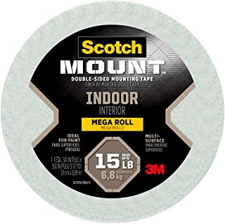 Scotch Mounting, Fastening & Surface Protection 110-LONG/DC, White, Scotch Indoor Mounting Tape, 0.75-inch x 350-inches, H...