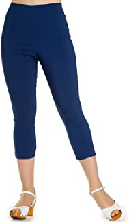Hell Bunny Tina anni 50 Vintage Retro Style Capri Pantaloni 3//4 Pedale Spingenti
