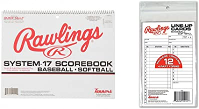 Rawlings System 17 Baseball/Softball Scorebook and System-17 Line-Up Cards (12 Cards)