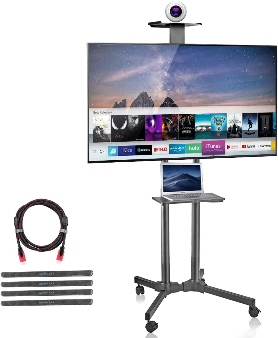 suptek Rolling TV Cart Mobile Mount and She Wheels Direct stock discount Max 50% OFF with Stand