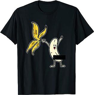 Banana Striptease Censored T-Shirt Naked Funny Adult T-Shirt