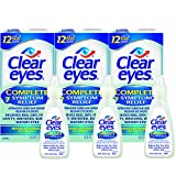 Clear Eyes Eye Drops, Complete 7 Symptom Relief, 0.5 oz, Pack of 3