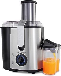 Centrifugeuse en Inox Fruits et légumes 1100W Extracteur de jus Capacité 1L Ouverture 78 mm Livre de recettes inclus
