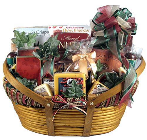 Gift Basket Village Dad's Favorites, Cheese and Sausage Gift Basket for Dad with Specialty Cheeses and Sausages Paired with Crackers and Gourmet Treats (XL),16 Pounds