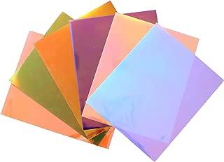 "QuuCut Chameleon Heat Transfer Vinyl Bundle : 10"" x 12"", Sheets 6 Colors Assorted Pack Iron on HTV Vinyl for Any Plotter/Silhouette Cameo/Cricut & Heat Press Machine"