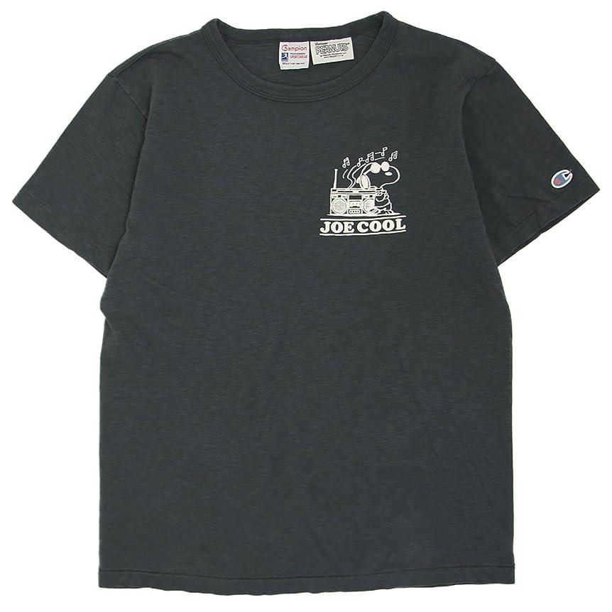 クモクリーク知り合いになる(チャンピオン) Champion ROCHESTER x Vintage PEANUTS スヌーピーTシャツ コラボ 国内正規品 ブラック C9-M303-090
