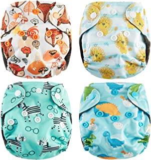 Thank u Mom Pocket Newborn Cloth Diapers for Less Than 12pounds Baby 4 Pack