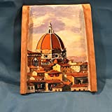 Teja pintada a mano ricceri Color Dibujo Catedral Firenze 24x 20cm