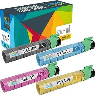 Do it Wiser Compatible Toner Cartridge Replacement for Ricoh Aficio SP C410DN SP C411DN SP C420DN | 888308 888311 888310 888309 (4 Pack)