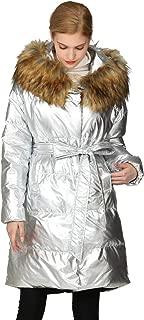 kooosin Women's Plus Size Winter Warm Long Thick Down Hooded Parka Maxi Coat Cardigan Zip Jacket Top Fashion Overcoat Outwear