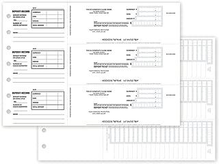 CheckSimple 3 to A Page Custom Manual Deposit Slips - No Duplicates (150 Slips)