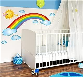 Jh1081 Tete 28 34.7 cm djryj Utile 1 Pi/èces Arc-en-Ciel /Étoile Licorne Autocollant Mural Enfants Pi/èce Fille Chambre Autocollant Papier Peint pour Maison D/écoration