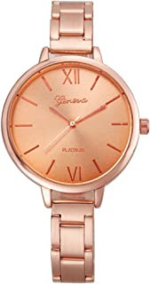 Geneva Rose Gold Casual Watch For Women Analog Stainless Steel