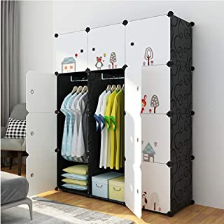 Garde-Robe Simple Peu Encombrant Bricolage Armoire Portable Armoire Style Nordique Armoire De Vêtements Convient Pour Les ...