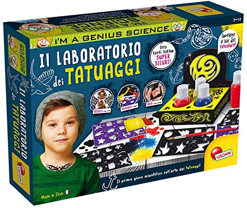 Lisciani Giochi- I'm a Genius Laboratorio La Fabbrica dei Tatuaggi Gioco Scientifico, 84234