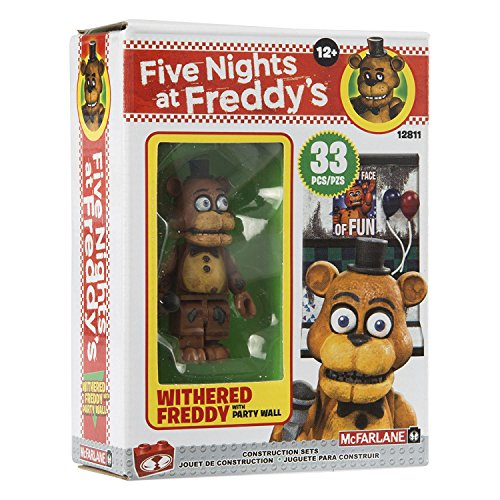 McFarlane Toys Five Nights At Freddy's Micro Construction Set - WITHERED FREDDY WITH PARTY WALL - 33 Pcs