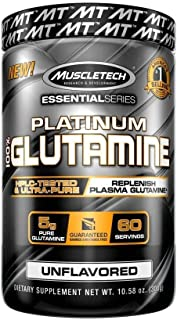 MuscleTech Glutamine Powder, 100% Ultra Pure L-Glutamine for Muscle Endurance & Recovery, 60-Day Supply, 10.58 oz  (302g)