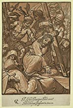 1592 Photo Christ carrying the cross / AC [monogram of Alessandro Casolani]; Andrea Andreani intagliatore in Siena 1592. Print shows Jesus Christ struggling under the weight of the cross.