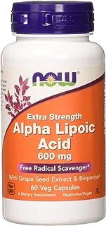 NOW FOODS Alpha Lipoic Acid 600mg Vcaps, 60 CT