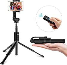 Extended Version-Bluetooth Selfie Stick Tripod with Wireless Remote Shutter and Extendable Monopod Compatible with iPhone, Samsung, Huawei, Other Smartphones (Black, Extended Version)