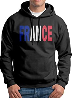 Boy's France Flag Patterns Print Athletic Pullover Hood Fashion Sweatshirts