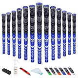 SAPLIZE Hybrid Golf Grips Kit Midsize (with Tape, Solvent, Vise clamp) All Weather Multi Compound Golf Club Grips