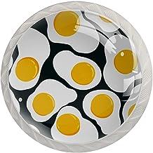 Lade knoppen ronde kristallen glazen kast handgrepen Pull 4 Pcs, omlette