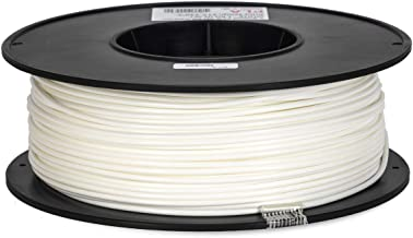 Inland 2.85mm White PLA 3D Printer Filament - 1kg Spool (2.2 lbs)