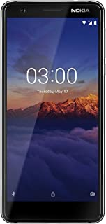 "Nokia 3.1- Android One (Oreo) - 16 GB - Dual SIM Unlocked Smartphone (AT&T/T-Mobile/MetroPCS/Cricket/H2O) - 5.2"" Screen - Black - U.S. Warranty"