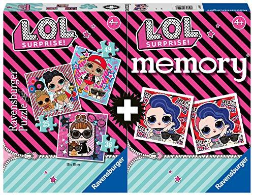 Ravensburger - Multipack memory + 3 puzzle LOL (20549) , color/modelo surtido