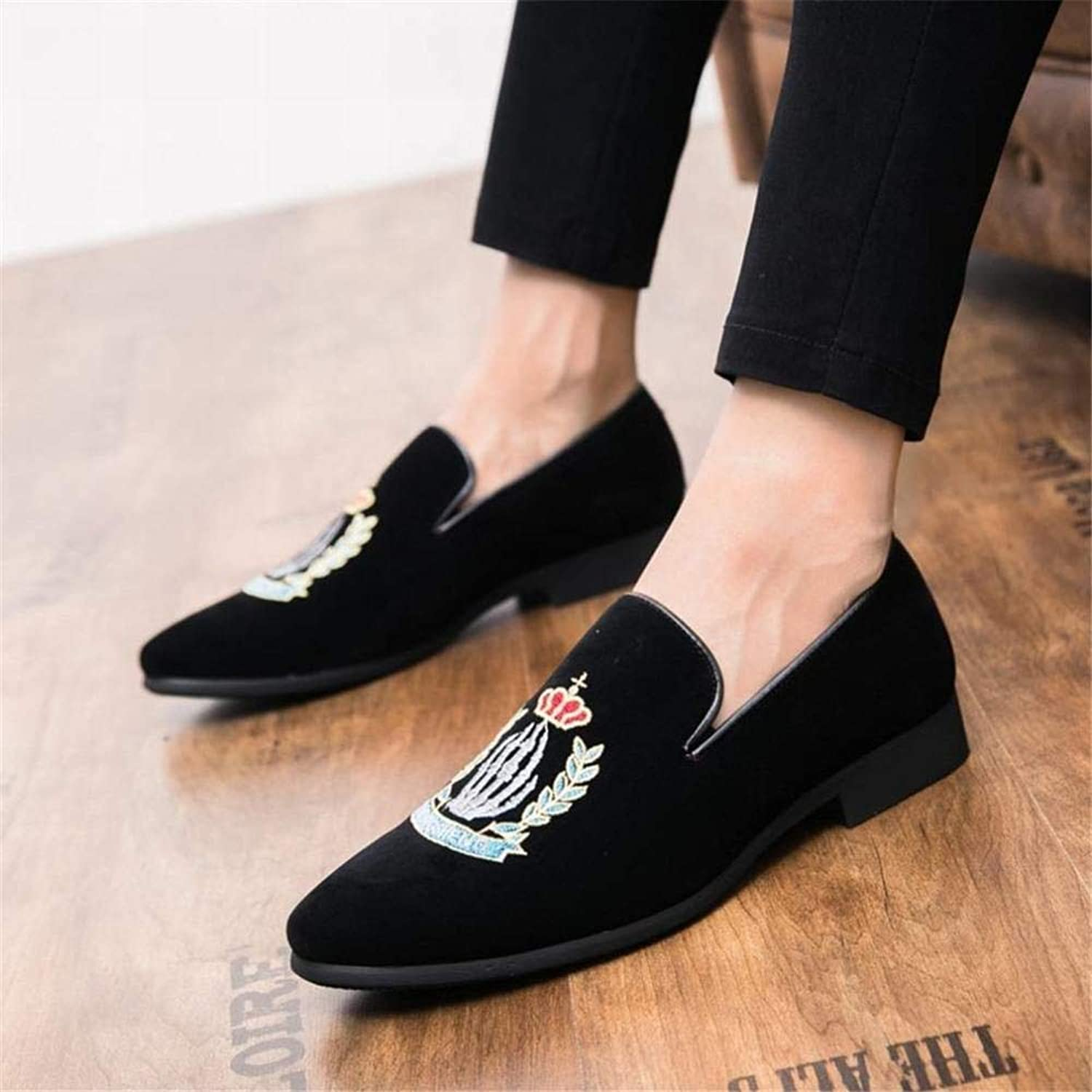ZJ Men's shoes Loafers &Amp; Slip-Ons Driving shoes Platform shoes Hair Stylist Nightclub,Personality For Wedding Party &Amp; Evening Night Club Stage Comfortable