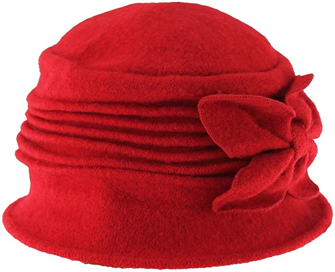 1920s Hat Styles for Women – History Beyond the Cloche Hat Hawkins Collection Wool Vintage Bow Hat £14.99 AT vintagedancer.com