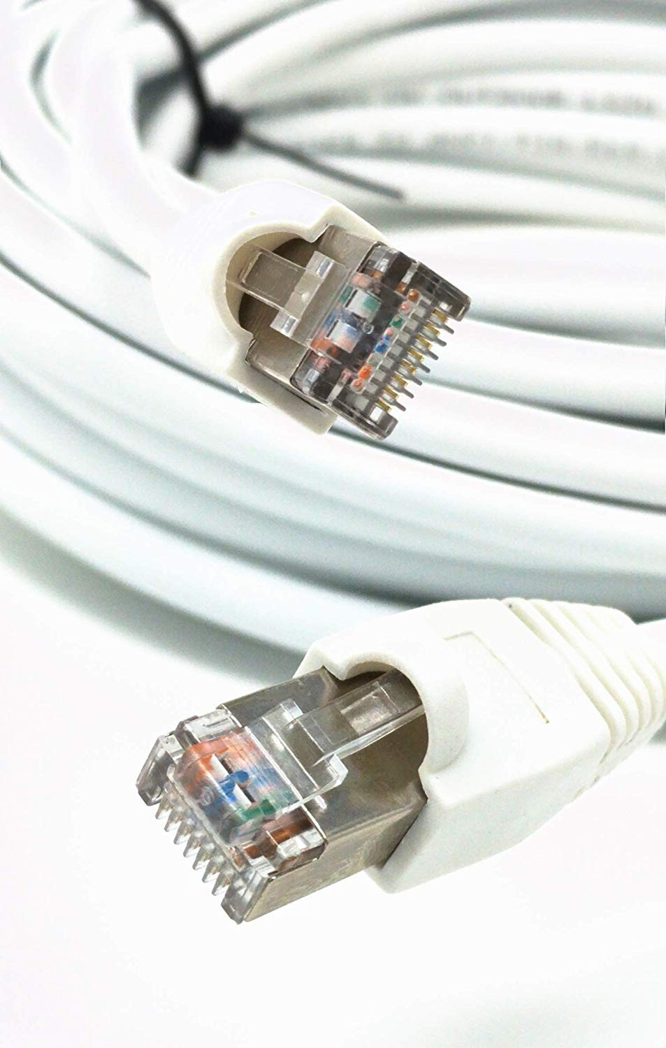 Ultra Spec Cables Special price 100ft White Ethernet Cat5e Mail order Waterproof Outdoor