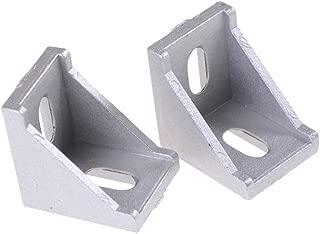 PZRT 12-Pack Aluminum Profile Corner Bracket,3030 Series L Shape Right Angle Connector,for Standard 8mm Slot Aluminum Extrusion Profile