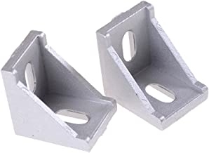 PZRT 12-Pack Aluminum Profile Corner Bracket,2020 Series L Shape Right Angle Connector,for Standard 6mm Slot Aluminum Extrusion Profile
