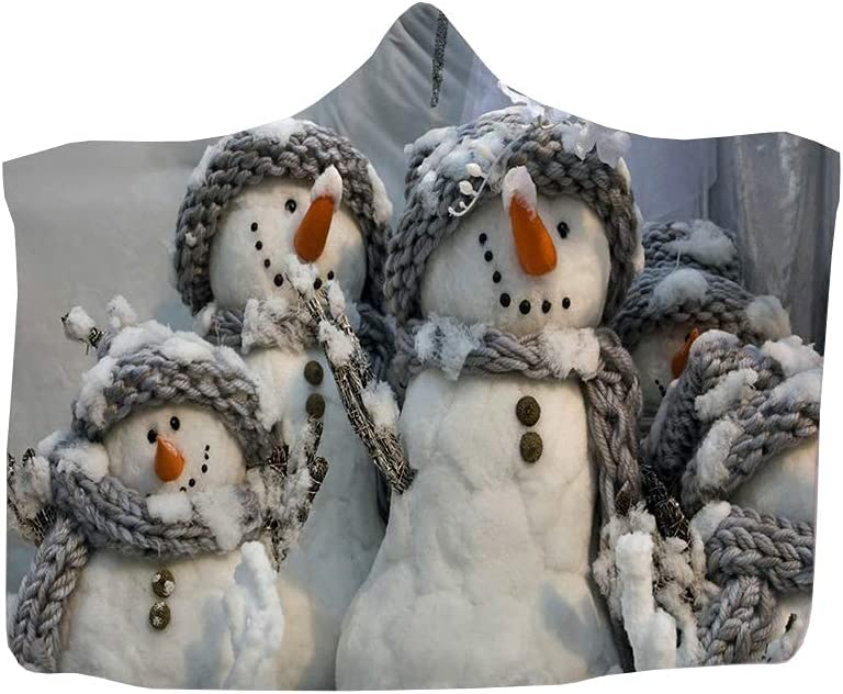 Christmas Super special price Hooded Blanket Wearable Soft New life Fleece Lined Plush Warm T