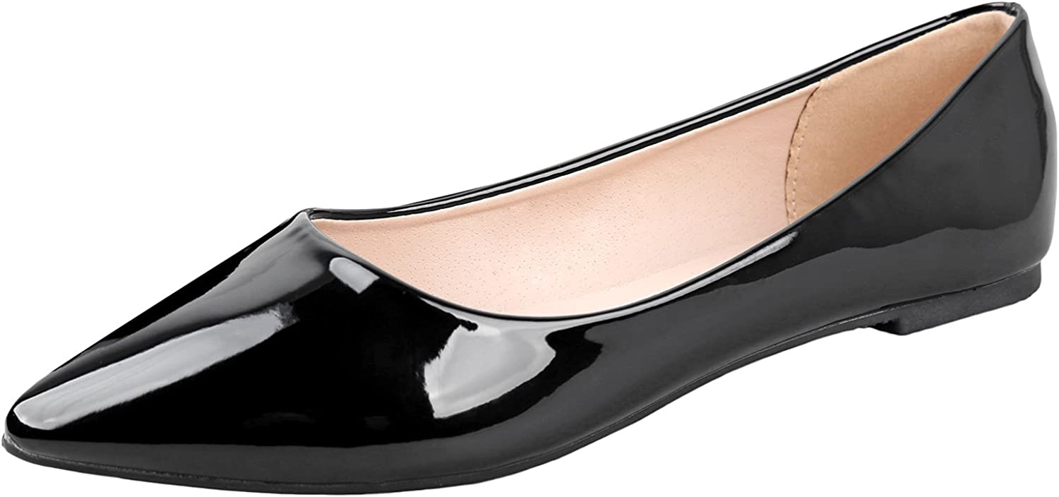 Bella Marie Angie Women's Pointy Arlington Mall Toe Classic Popular brand in the world Slip Ballet Flat On